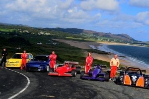 Irish Team with cars, taken at Knockalla Hillclimb September 2014
